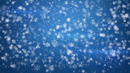 snowfall: beautiful fluffy christmas snowfall