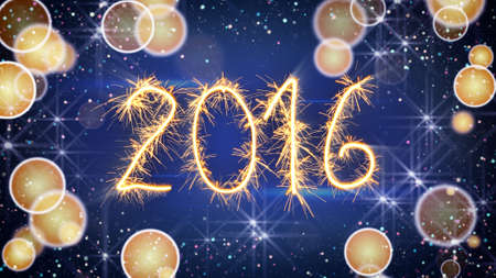 sparkler: sparkler text new 2016 year greeting