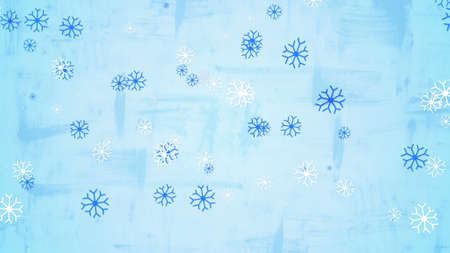 child's: christmas snowfall childs drawing style illustration