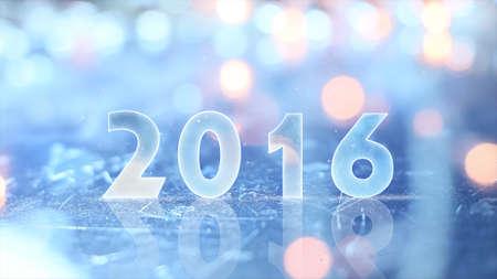 2016 greting and christmas lights 스톡 콘텐츠