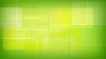 green technology: green rectangular shapes. computer generated abstract technology background