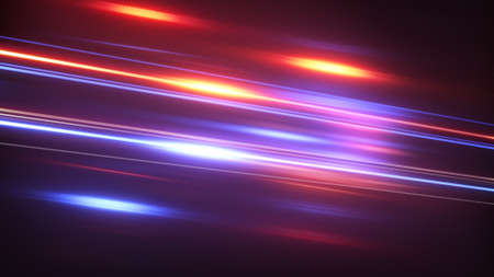 techno: blue red glowing stream. computer generated abstract techno background