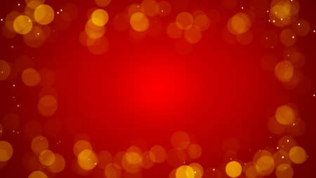 the computer generated: frame of defocused lights on red. Computer generated abstract background Stock Photo