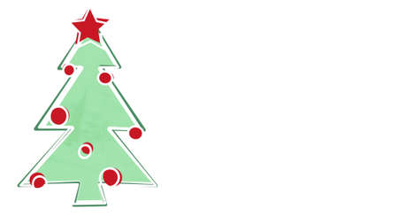 childs: christmas tree childs drawing style and empty space