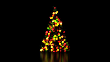 out of focus: colorful christmas tree lights out of focus. festive background