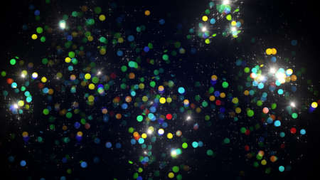 a lot: lot of colorful firework bursts. Computer generated holiday background