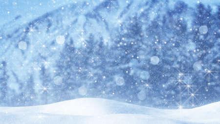 snow drift: fairy snowfall. abstract christmas background Stock Photo