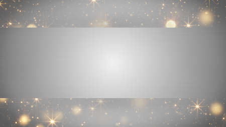 computer generated: blank banner and holiday particles. Computer generated abstract background