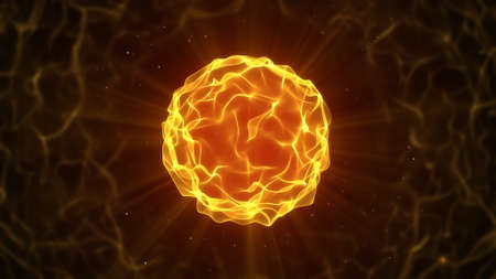 fire ball: beautiful fire ball. Abstract computer generated graphic