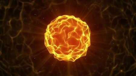 bola de fuego hermoso. Generada por ordenador abstracto gráfico