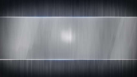 the computer generated: grey stripes and blank banner. Computer generated abstract background