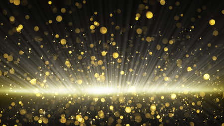slow motion: gold glitter particles. computer generated abstract background