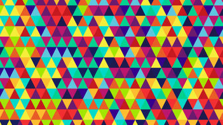 triangles: bright color triangles. computer generated abstract geometric background Stock Photo