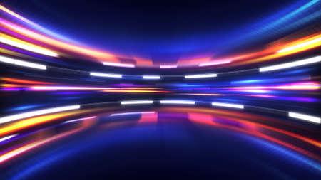 ハイテクの抽象的な背景を輝いています。コンピューターが生成した図
