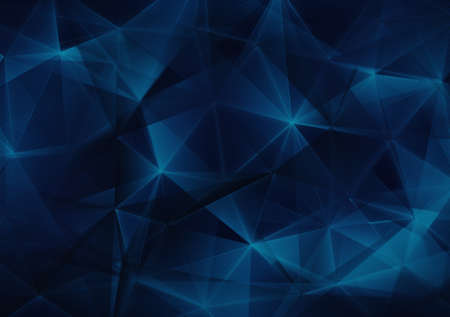 satined: dark blue triangles web abstract background Stock Photo