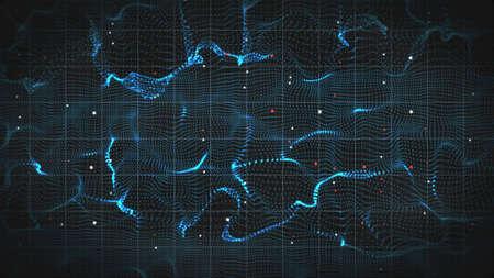 abstract 3D-vorm van elektromagnetische golven. computer gegenereerde achtergrond Stockfoto