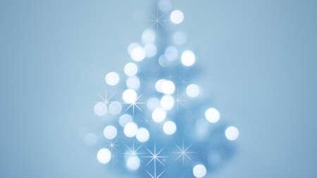 多重飾られたクリスマス ツリー 写真素材
