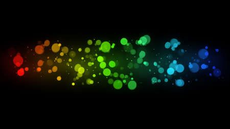 colourful: colorful bokeh lights. Computer generated abstract background