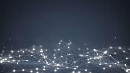 テクノロジー: 未来的な形状。コンピューター生成された抽象的な背景 写真素材