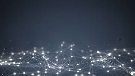 tecnologia: forma futurista. Fundo gerado por computador abstrato