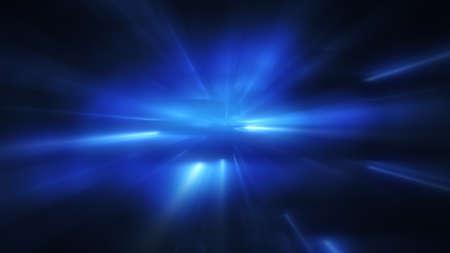 ブルーのライトが点滅します。コンピューター生成された抽象的な背景