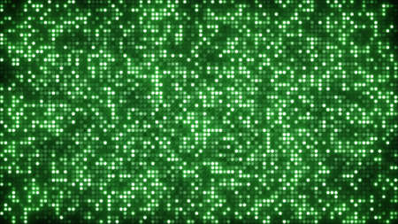 vj: green glitter dots. computer generated abstract background