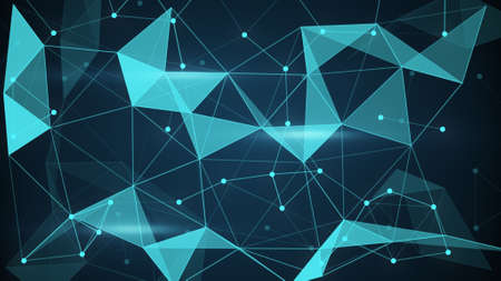 techno: futuristic techno shape. Computer generated abstract polygon background