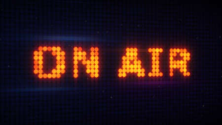 air show: on air signboard in sound studio Stock Photo