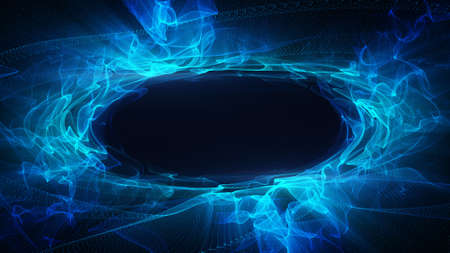 blue energy. Computer generated abstract background