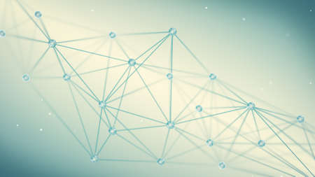 Futuristischen Techno-Form. Computer generierte abstrakte Polygon Hintergrund Standard-Bild - 51348473