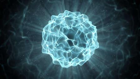 Hermosa bola de plasma azul. ordenador abstracto generado gráfico Foto de archivo - 51351107