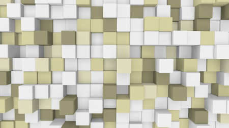pale yellow: pale yellow 3D cubes. computer generated abstract background