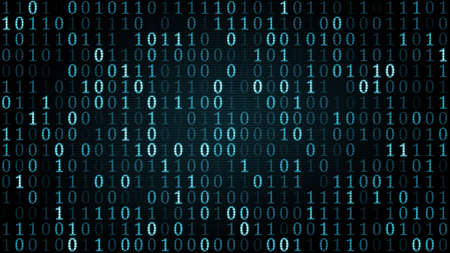 blauwe digitale binaire symbolen. Computer gegenereerde afbeelding