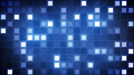 generated: glittering blue squares. computer generated abstract background
