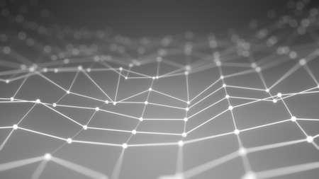 tecnología informatica: Agitando la red. La tecnología de fondo generado por ordenador Foto de archivo