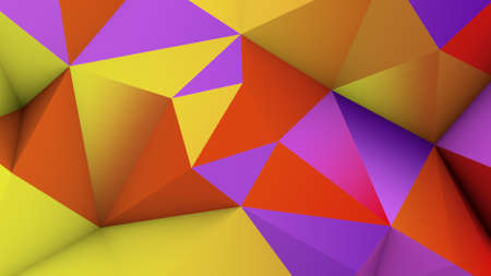 vivid: Vivid color low poly surface. Abstract 3D rendering