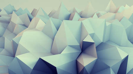 relief: Low poly relief. Abstract 3D render