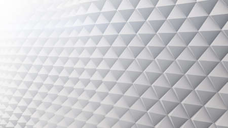 techno: White techno surface. Abstract 3D rendering