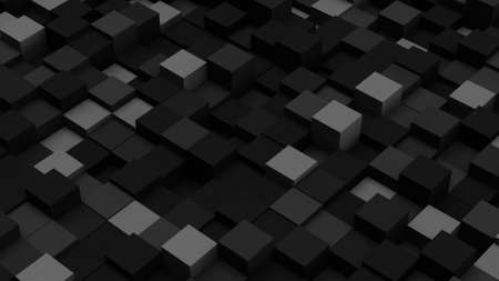 computer generated: Dark grey  3D boxes. Computer generated abstract background
