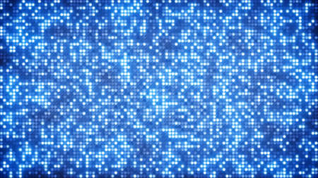 tiled wall: blue glitter dots. computer generated abstract background