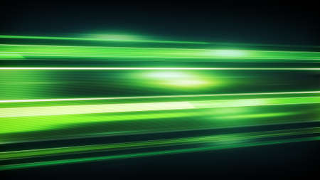 flashing light: Green light streaks with motion blur. Computer generated abstract modern background