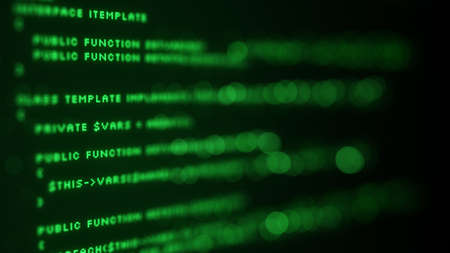 programming code: Programming code on screen. Selective focus Stock Photo