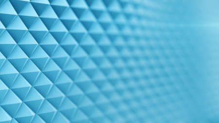 rendering: Wavy blue surface. Abstract 3D rendering Stock Photo