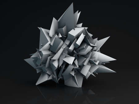at the edge of: Sharp edge shape. Computer generated abstract 3D render
