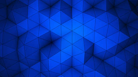 relief: Blue triangle polygons. Computer generated geometric background