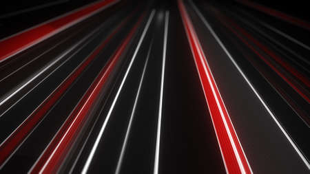 light streaks: White and red traffic light streaks. Computer generated abstract modern transportation background