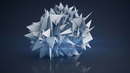 chaos theory: Polygonal shape. Abstract futuristic 3D render illustration