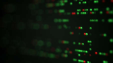 shallow: Working LED Indicators on control panel. Shallow DOF. Computer generated technology background. Abstract 3D render