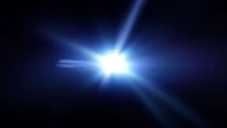 Blue light and flares abstract background