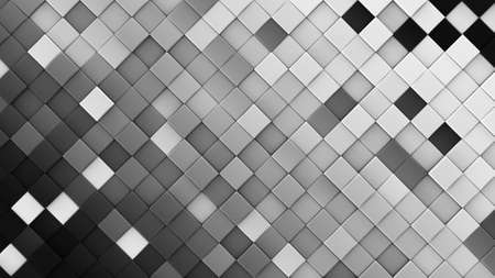 computer generated: Black and white rhombs. Computer generated abstract geometric background. 3D render illustration Stock Photo